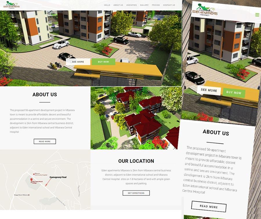 Apartments Website: Eden Apartments Mbarara Website Design